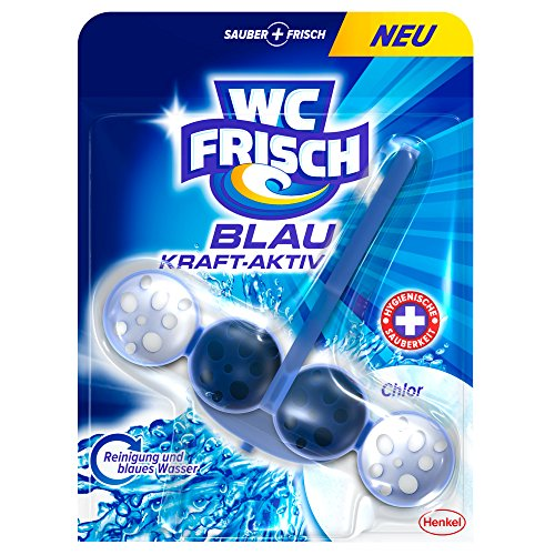 WC Frisch Kraft-Aktiv Blauspüler Chlor, 5er Pack (5 x 1 Stück)