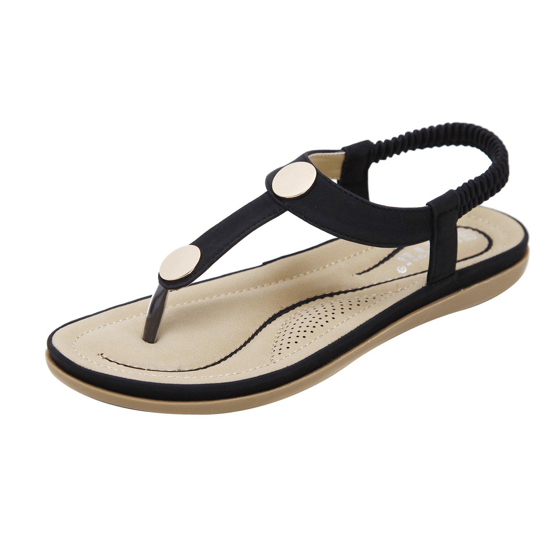 ZAMME CNPSHOE162 Damen Zehentrenner Schwarz2018 Letztes Modell  Mode Schuhe Billig Online-Verkauf