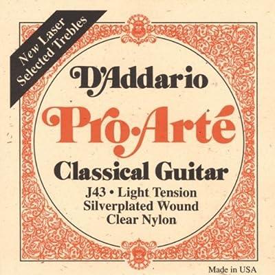 D'Addario EJ43 Pro-Arte Nylon Classical Guitar Strings, Light Tension from D'Addario &Co. Inc
