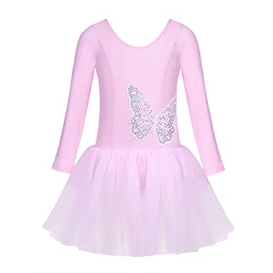 iiniim Maillot Niña Mariposa Ballet Danza Gimnasia Tutú Princesa ...