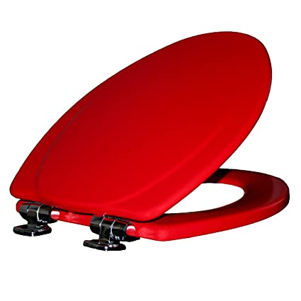 Fabulous Mayfair Toilet Seat With Chrome Hinges Will Slow Close And Never Come Loose Elongated Durable Enameled Wood Red 130Chslb 613 Gmtry Best Dining Table And Chair Ideas Images Gmtryco
