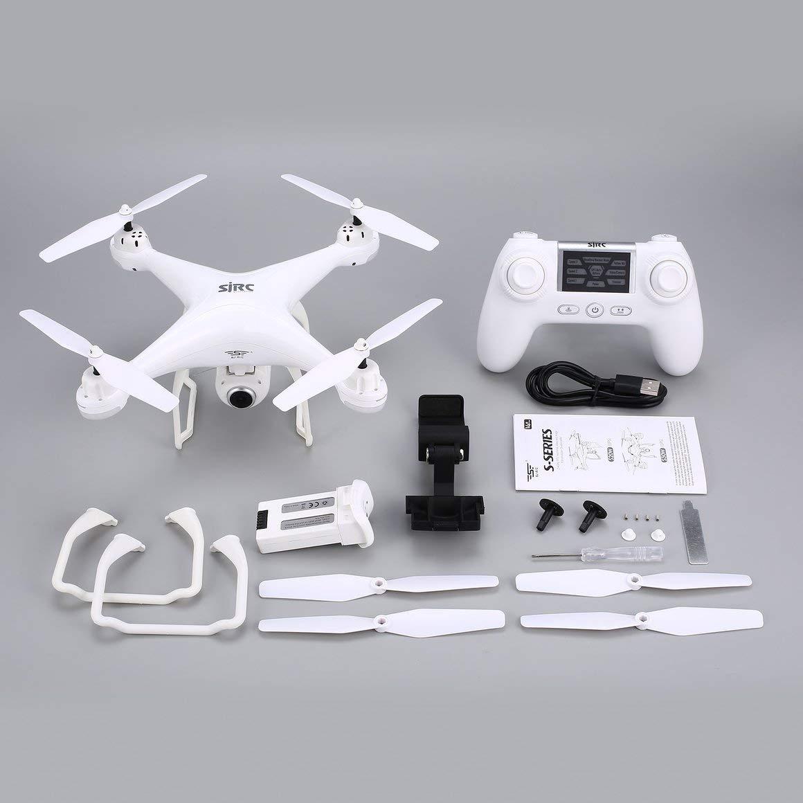 Funnyrunstore SJ R   C S20W FPV 1080P Camera Selfie Altitude Hold Drone modalità Headless Ritorno Automatico Decollo   atterraggio Hover GPS RC Quadcopter