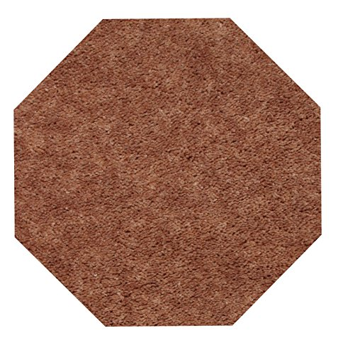 Bright House Solid Color Area Rug, 6' Octagon, Brown ()