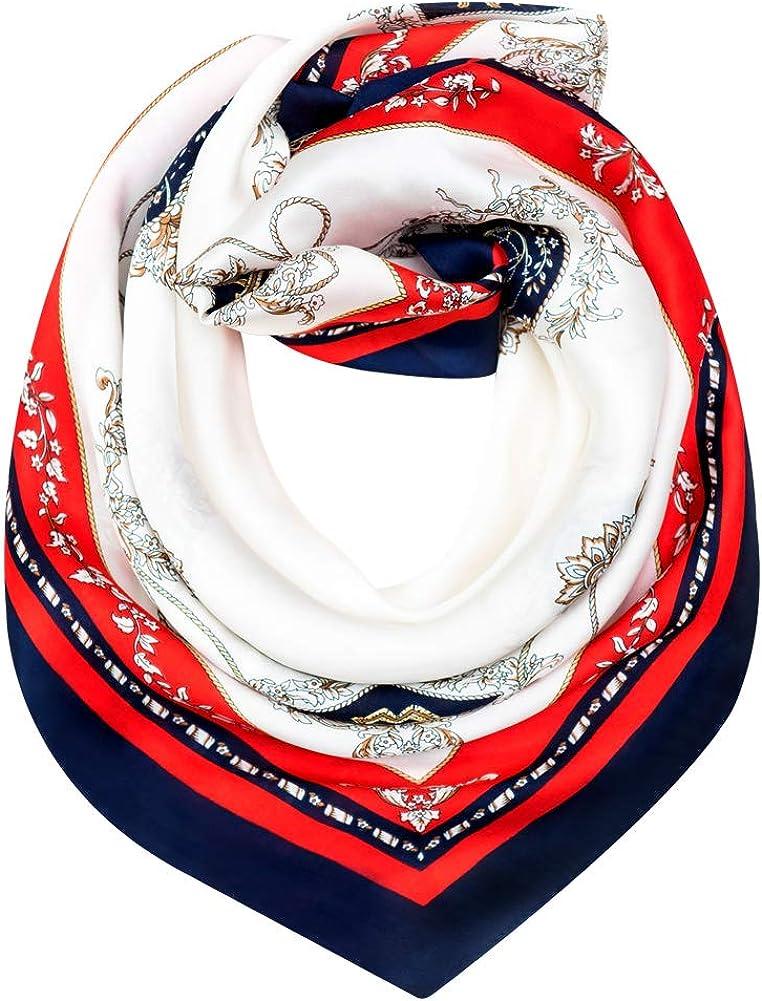 Satin Silk Scarves Premium...