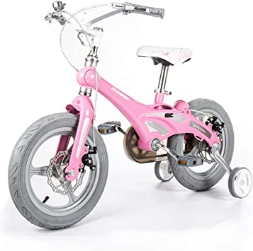Ppy778 Bicicleta para niña 12/14/16 Pulgadas Bicicleta Rosa Bicicleta a Prueba de Golpes Adecuada para niños de 2 a 8 años Regalo de cumpleaños para niñas: Amazon.es: Deportes y aire libre