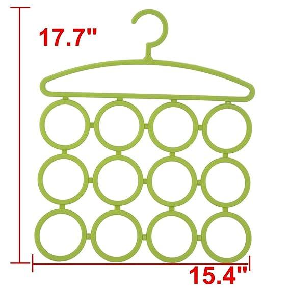 Amazon.com: eDealMax plástico Inicio Titular de baño Bufanda Pantalones ropa calcetines toalla que cuelga del estante Verde: Home & Kitchen