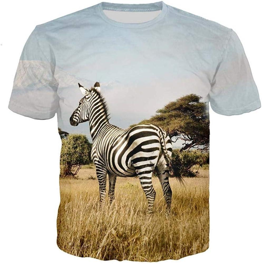 Camiseta Hombre Zebra Camiseta Animal Hip Hop Camiseta 3D Estampado Camiseta Cool Mens Clothing Verano Casual Tops Streetwear -XXL: Amazon.es: Ropa y accesorios
