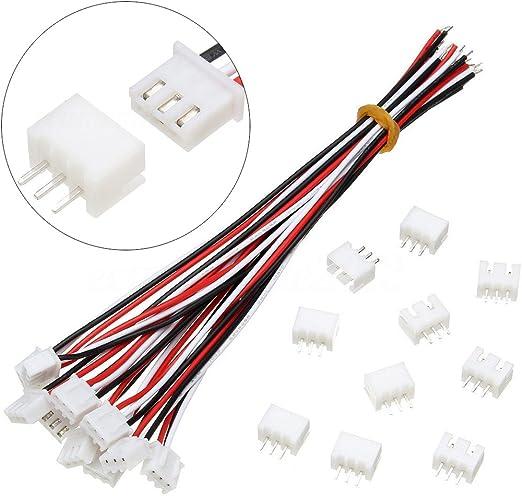 10 Satz 4 Pin JST XH 2.54mm 24AWG Anschlussstecker mit Drähte Kabel 150MM