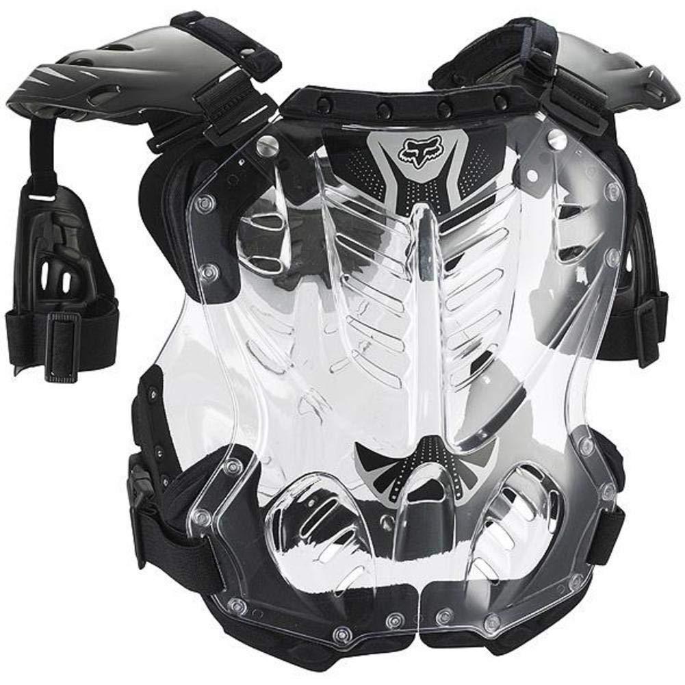 Fox Racing R3 Men's Roost Deflector Motocross Motorcycle Body Armor - Black/Large 06091-001-L