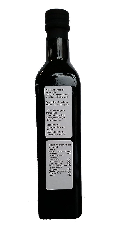 500 ml Aceite de semilla negra - El comino Negro aceite: Amazon.es: Hogar