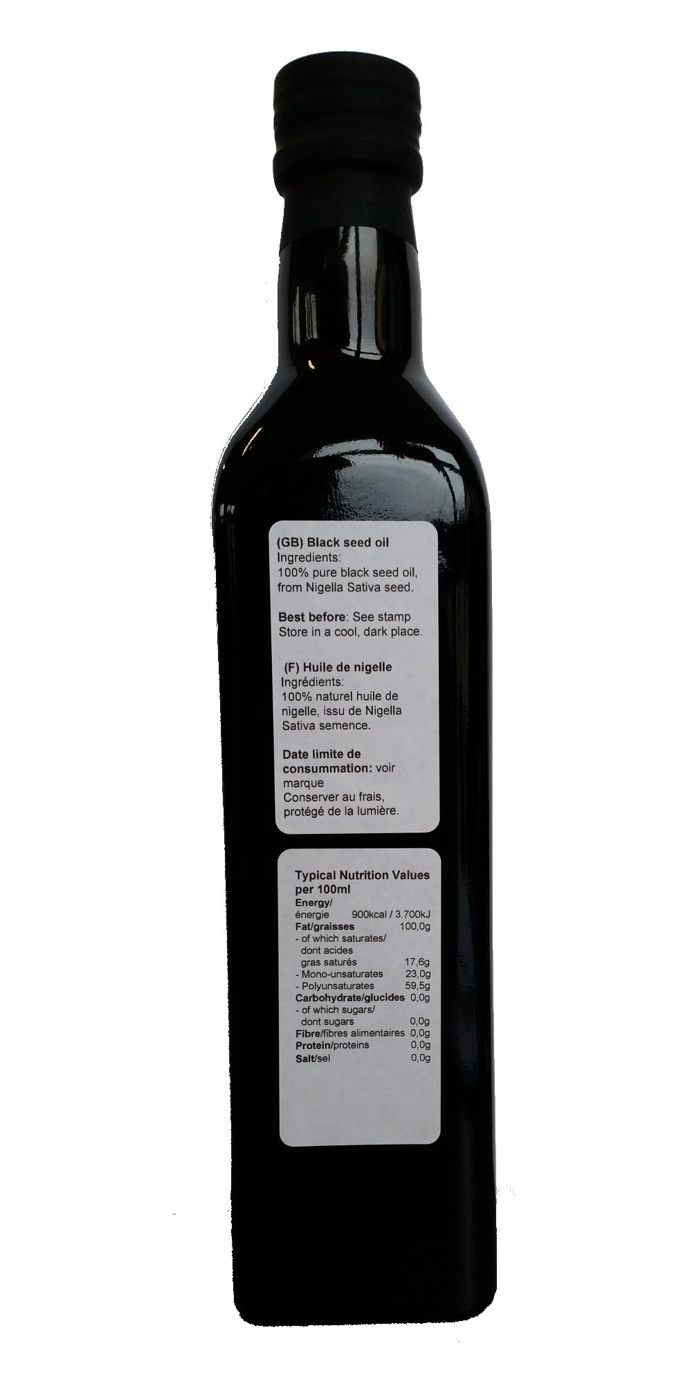Black Seed Oil - Black Cumin Oil 100% pure from Egyptian oilseed 500ml by manako
