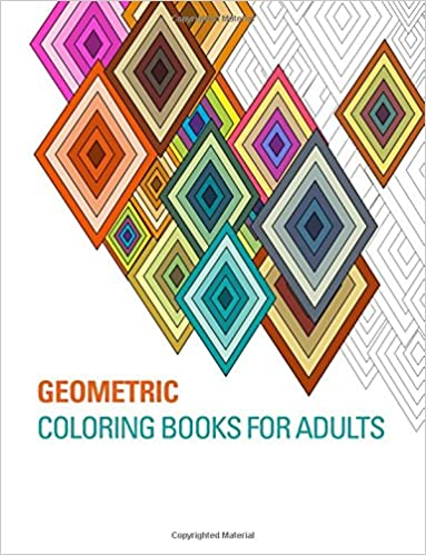Amazoncom Geometric Coloring Books for Adults 9781514366141