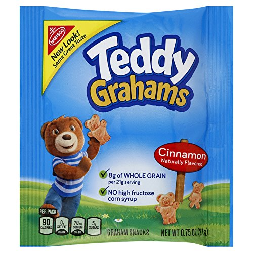 Teddy Grahams Snacks, Cinnamon, 0.75-Ounce Bags (Pack of 150)