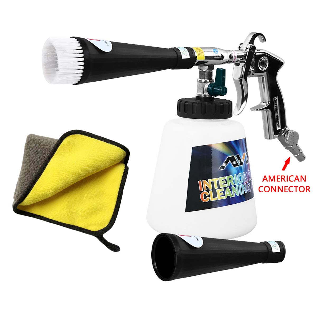 YVO Car Cleaning Gun Interior Cleaner Foam Gun Wash Kit High Pressure Washing Detailing Tool Automotive Care Essentials Fine Cleaning Device Interior Exterior