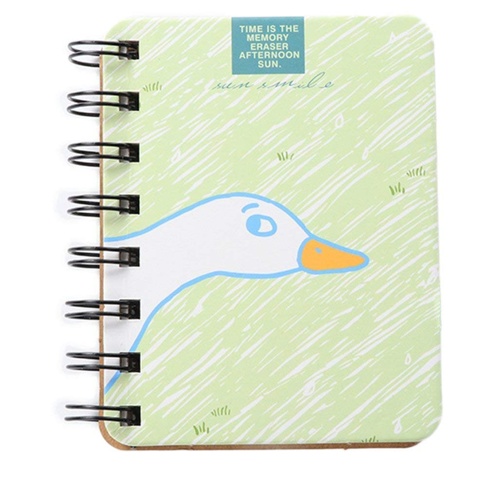 Wirebound Notebook Schöne Gans Muster Hardcover 80 Seiten Linien Design Notebook Grün Langlebig und nützlich Ogquaton B07NVGSQF4 | Clearance Sale  | Qualitativ Hochwertiges Produkt  | Creative