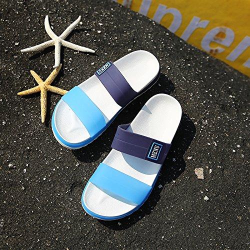 Chaussons pour hommes Cool pantoufles homme-Trou Trou dété à fente et chaussures chaussures de plage noir 40 anti-dérapant
