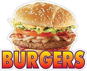 Burgers Concession Restaurant Food Truck Die-Cut Vinyl Sticker 8