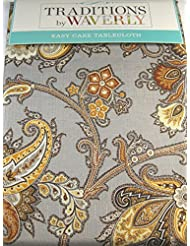 Delicieux Waverly Easy Care Fabric Floral Tablecloth Tennyson   100% Polyester 60 X  102