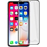 KINGTOP iPhone X Tempered Glass Screen Protector 6D Full Cover Edge Screen Protector for Apple iPhone X (2-pack)
