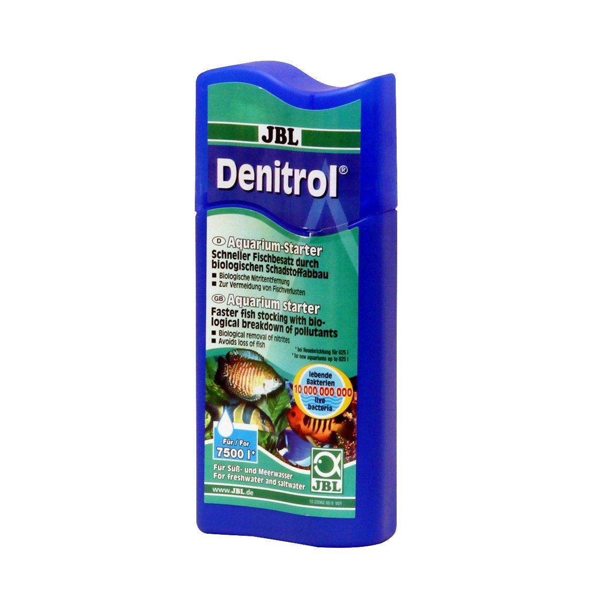 JBL Denitrol 250ml, Activateur de bactéries pour l'introduction de poissons dans les aquariums d'eau douce et d'eau de mer 2306200