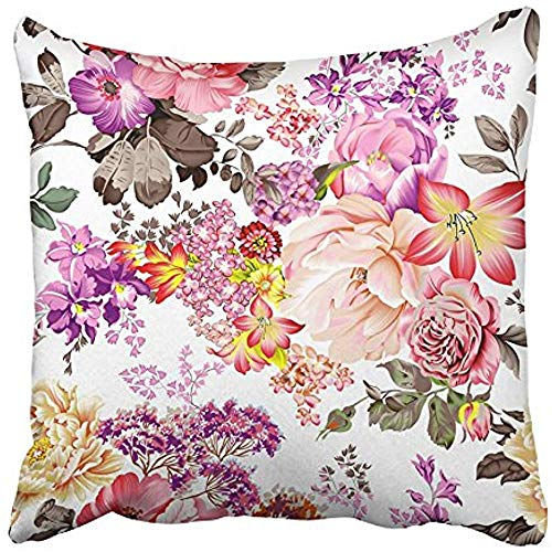 Throw Pillow Covers Cases Decorative 18x18 Inch Orange Scarf Beautiful Flowers with Colorful Floral Dress Gold Objects Beauty Two Sides Print Pillowcase Case Cushion Cover