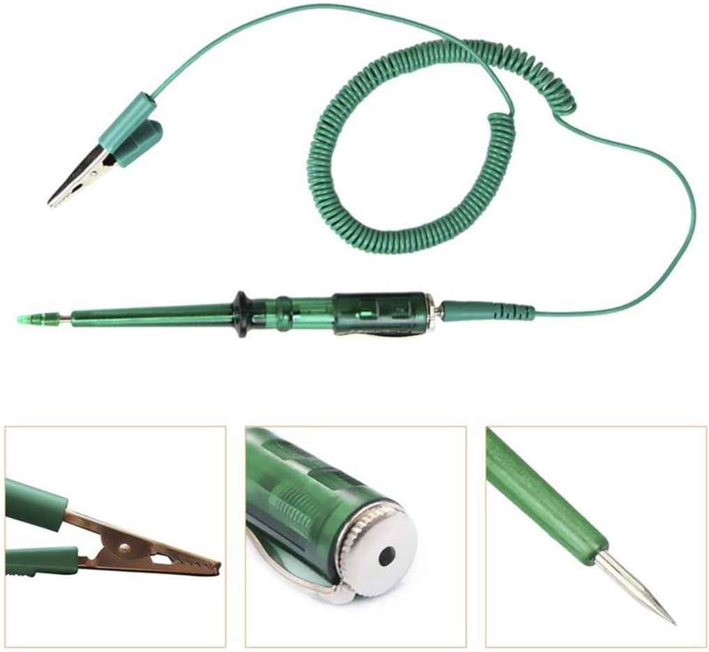 Hotaluyt Crayon Test Portable Voiture Moto Tension Gauge testeur Automatique Outil de Diagnostic d/étecteur DC 6V 12V 24V