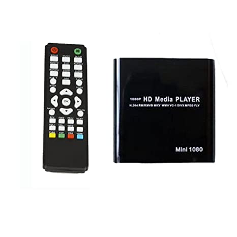 Malloom® 1080P Mini HDD Media Player MKV/H.264/RMVB HD con HOST USB/SD Card Reader negro: Amazon.es: Electrónica