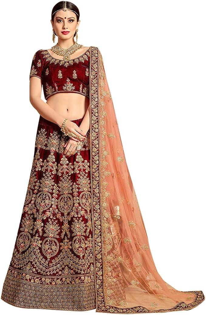 Indian Designer Lehenga Choli with embroidery work Wedding lehenga choli party wear lehenga choli Indian Women,chaniya choli,wedding dress
