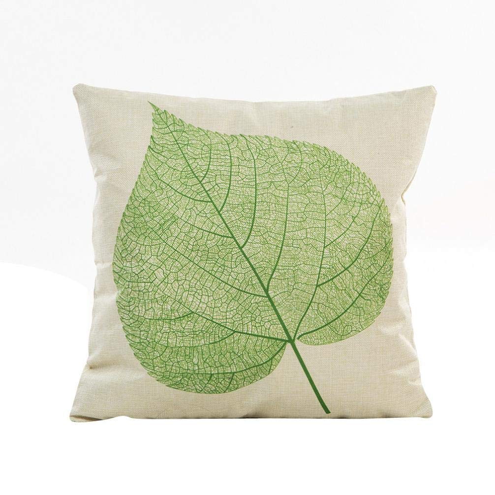 Sameno Pillow Cases Flowers Grass Pattern Sofa Waist Office Kitchen Patio Chair Seat Pad Throw Cushion Mat Cover Protector Indoor Furniture Decor in (A)