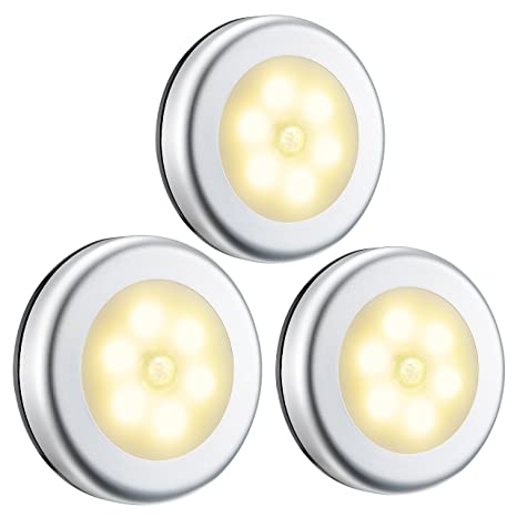 Luz nocturna con detector de movimiento, luces led, coche encendido o apagado con sensor de luz, ...