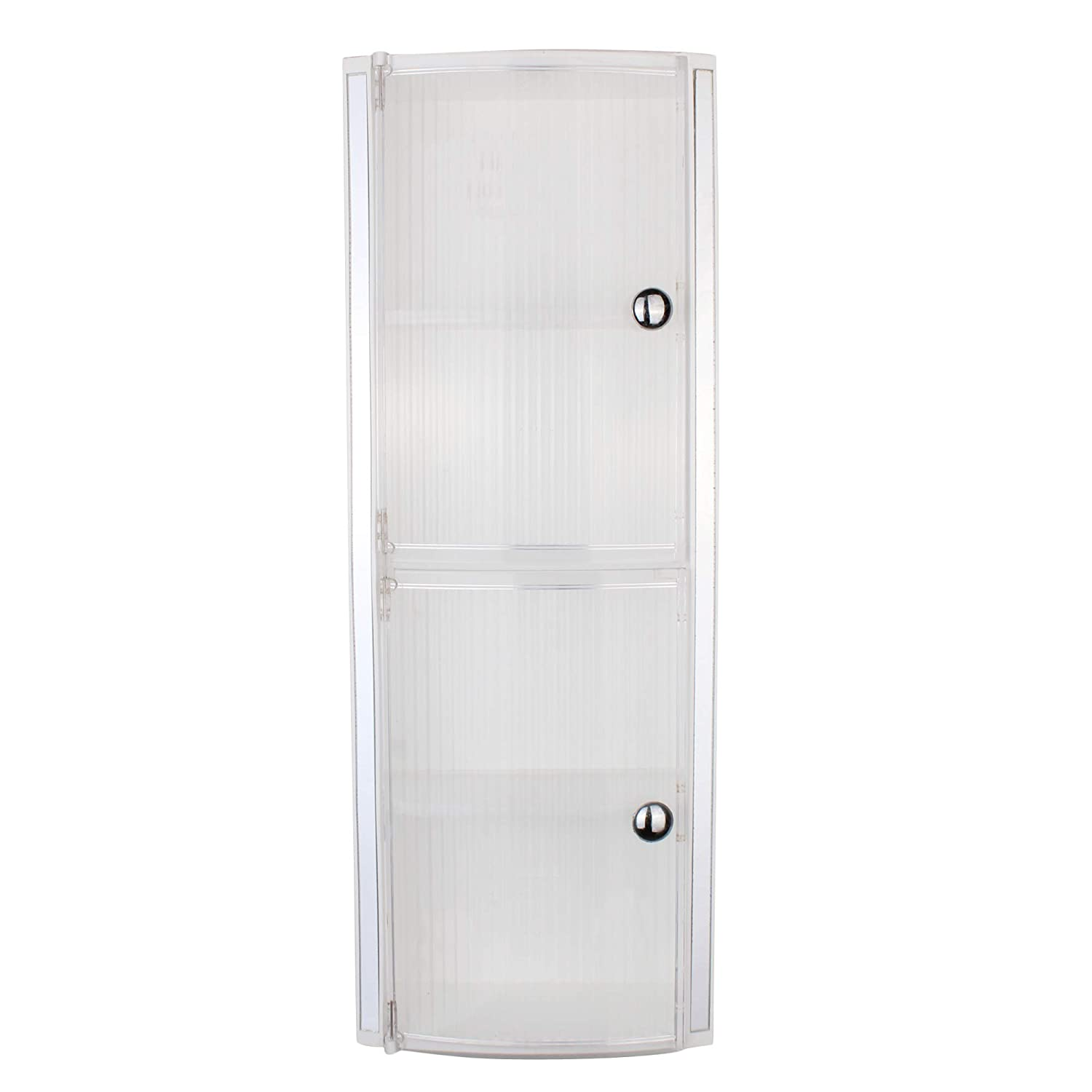 Orril Zoshomi Crystal Wall Mount Bathroom Corner Cabinet With Door And Storage White Amazon In Home Improvement