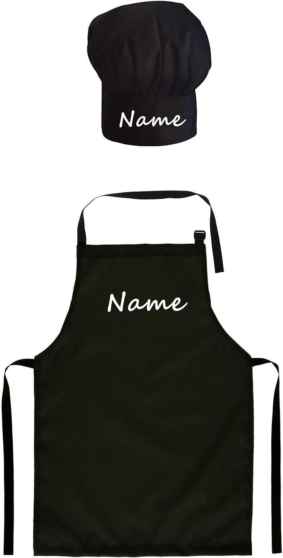 099 Ferocity Cappello da cuoco regolabile Per i bambini con il tuo nome accessori da cucina con il testo desiderato