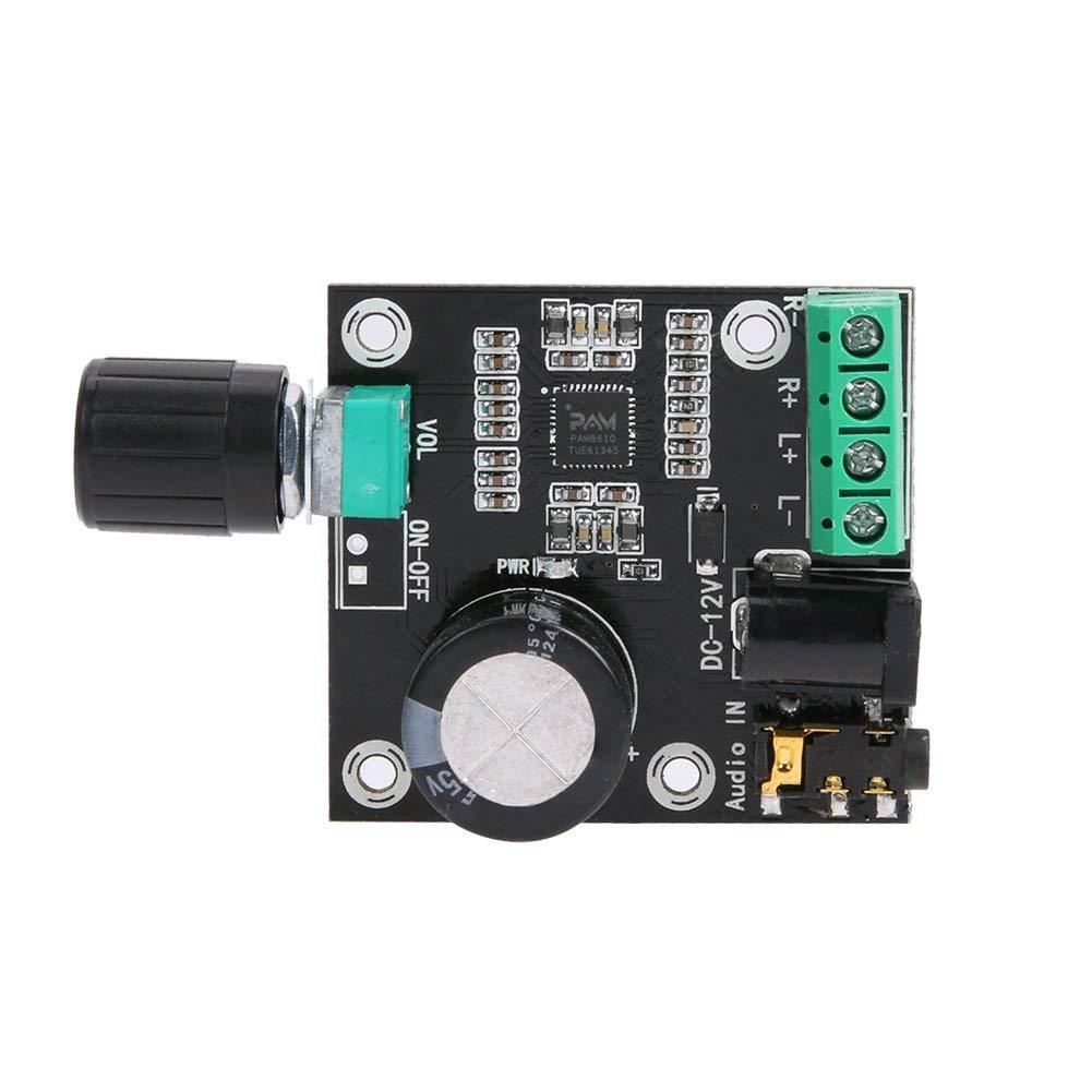 ARCELI PAM8610 Carte amplificateur Audio num/érique Double Canal HD 12V Haute Puissance