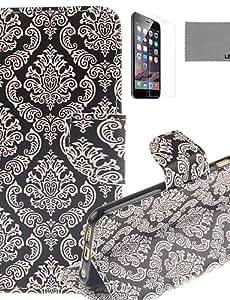 YULIN viejo patrón de la moda de la PU funda de piel de todo el cuerpo con protector de pantalla y el stylus para el iphone 6 / 6s
