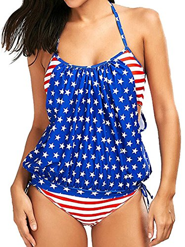 Womens Two Piece Bathing Suit Push up Am...
