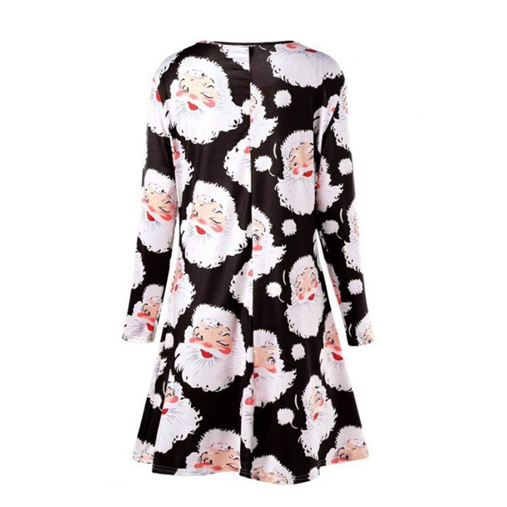 weihnachtskleid damen festlich kleid langarm kleid. Black Bedroom Furniture Sets. Home Design Ideas