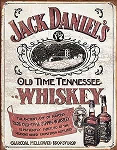 Cartel de chapa 'Jack Daniels - Sippin Whiskey', Tamaño: 41 x 30 cm