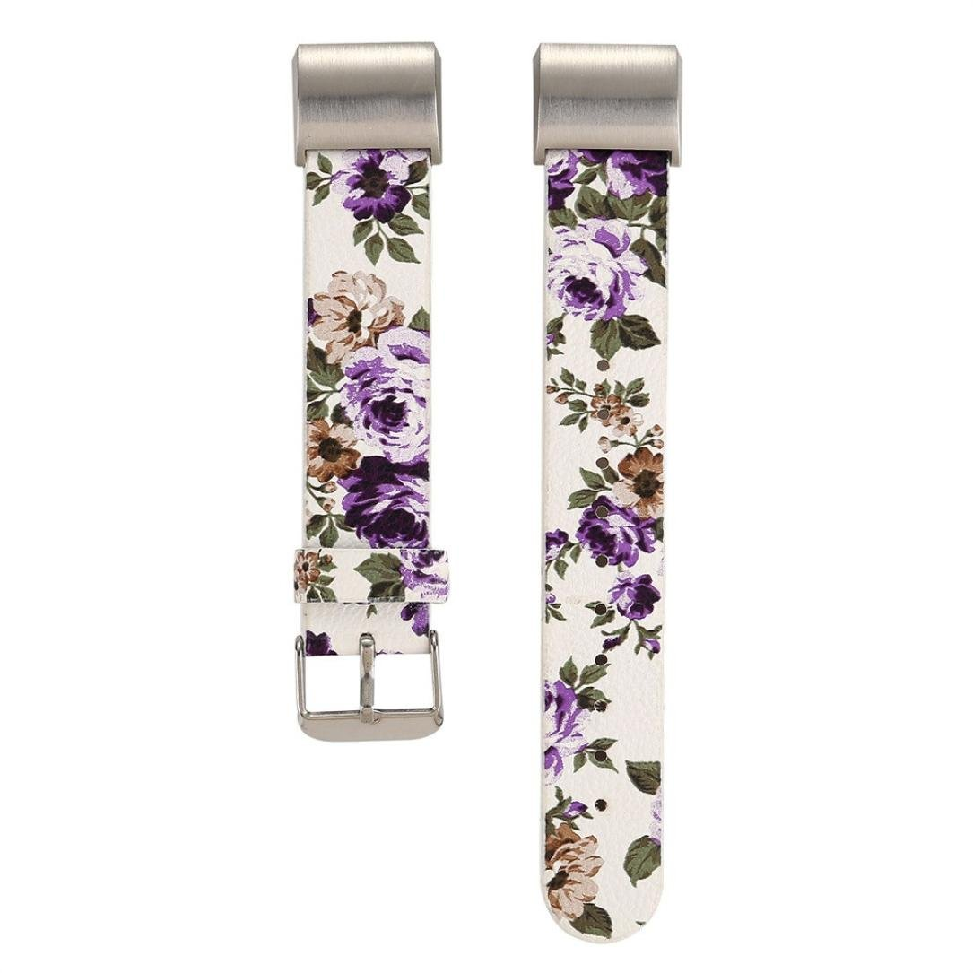 xuanou Floral Printedウォッチバンドfor Fitbit Charge 2ストラップ軽量レザーバンド調節可能な交換Accessory for Fitbit Charge 2 Smart Fitness Watch Band adjustable: Yes C C C B07D278ZNT
