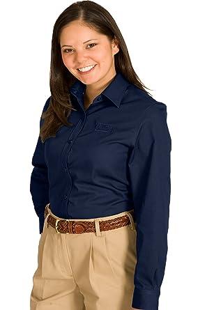c49afe33032 Amazon.com  Edwards Women s Wrinkle Resistant Long Sleeve Twill ...
