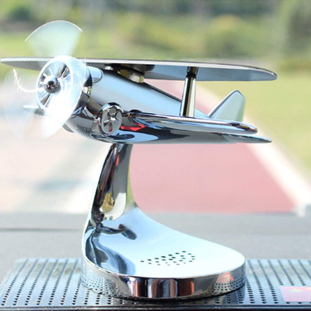 mnoMINI Autodekoration Solar Wackelfigur Schaukelfigur Flugzeugmodell Solarfigur Auto Solarflugzeug Innendekoration mit Aroma Diffuser Aromatherapie Solar Wackelkopffigur Flugzeugdeko f/ürs Auto Black
