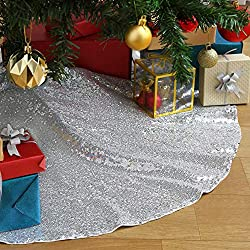 Decorative Handicraft Silver Christmas Tree Skirt