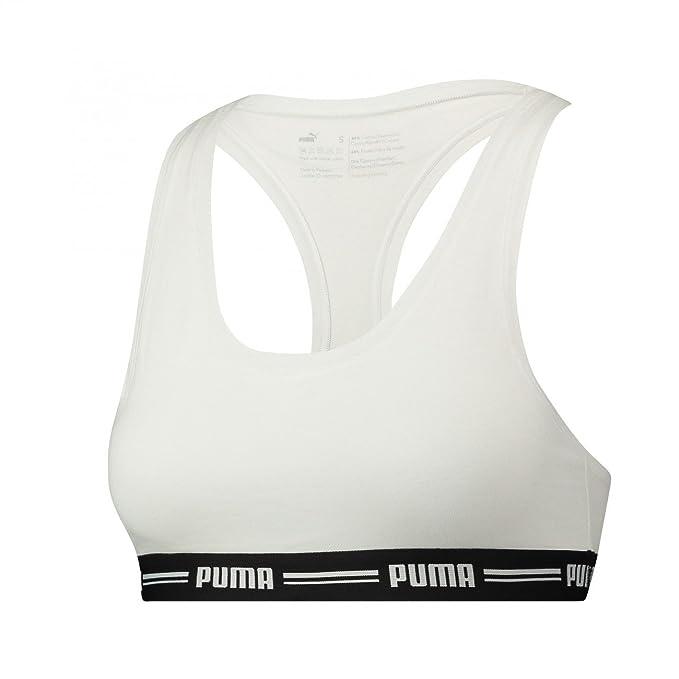 Puma Iconic Racer Back Bra 1p E-com - Ropa Interior Mujer: Amazon.es: Ropa y accesorios