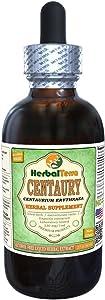 Centaury (Centaurium Erythraea) Glycerite, Organic Dried Herb Alcohol-Free Liquid Extract 2 oz