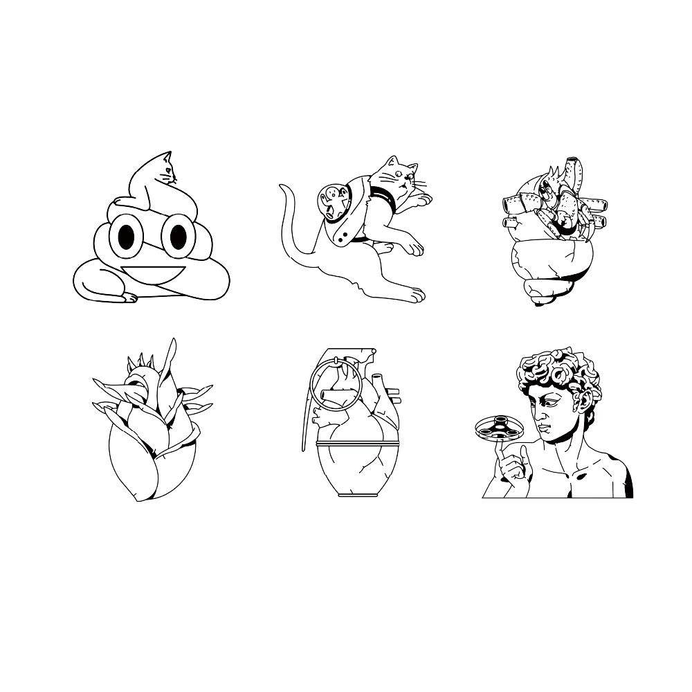 11 Original Design Temporary Tattoos by Inktells-Updated 2020-Animal,Heart,Creative Statue tattoo for Men and Boys  fake tattoos for neck,back,hand and forearm  Removable (2 sheets)