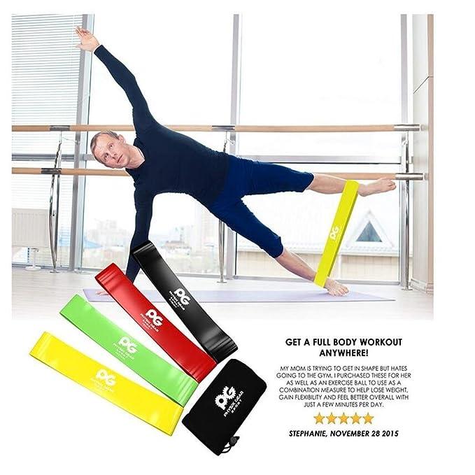 MOIMK Bandas de Resistencia Entrenamientos de Fitness, rehabilitación, Yoga, Pilates para piernas y glúteos, Brazos, Fisioterapia, Pilates, Yoga y Fuerza ...