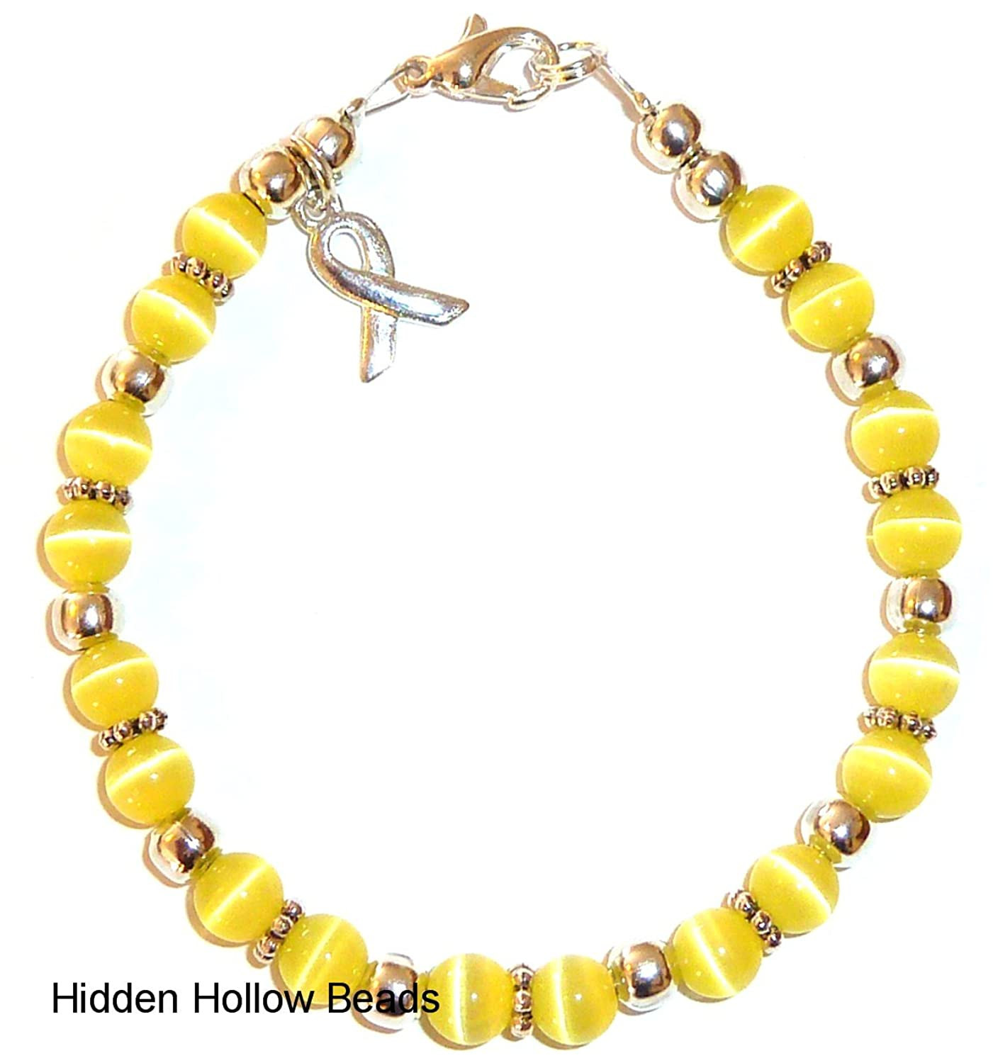 jewelry com spina beads campaign fundraising awareness and or dp bracelet hidden bladder bifida yellow amazon cancer by in sarcoma hollow