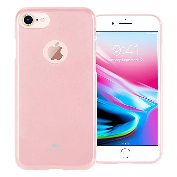 sports shoes 09e61 ec674 GOOSPERY Marlang Marlang iPhone 8 Case - Baby Pink, Free Screen Protector  [Slim Fit] TPU Case [Flexible] Pearl Jelly [Protection] Bumper Cover for ...