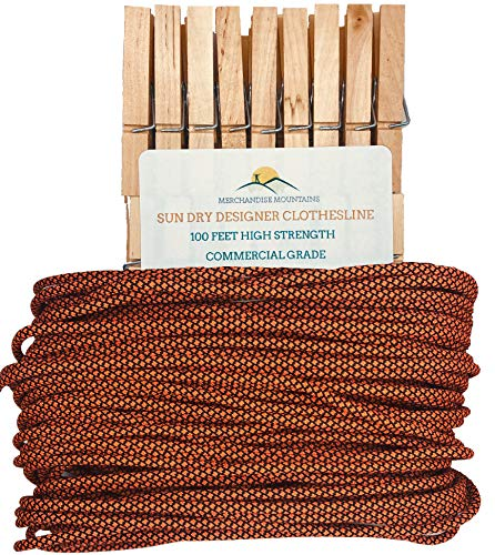 (Sun Dry Clothesline Clothespins Designer Colors Outdoor Replacement Cord Long Lasting Low Stretch (36 Clothespins, Autumn Breeze) )