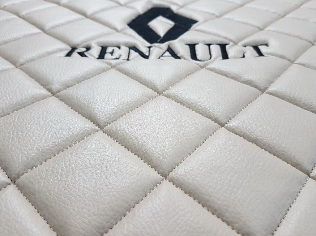 Lot de tapis de conduite /à gauche sadapter pour Renault Truck T Automat Bo/îte de Vitesse Accessoires D/écoration Beige Eco Cuir