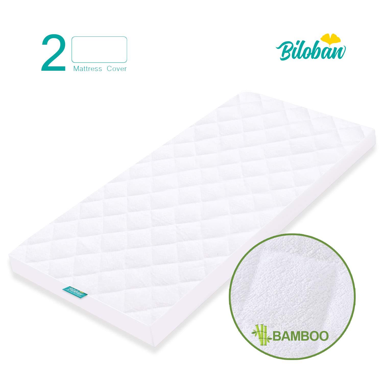 Crib Mattress Pad Cover for 52 /× 28 Standard Crib Mattress Washer /& Dryer Friendly Ultra Soft Bamboo Fleece Surface and Premium Waterproof Layer